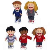 "14"" Set of 5 Boy & Girl Glove Puppets"