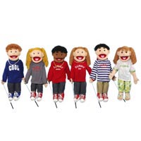 "28"" Set of 6 Boy & Girl Ventriloquist Puppets"