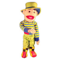 "28"" Clown (Boy) Full Body Ventriloquist Puppet"