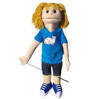 "Dual Entry Full/Half Body 28"" Linda Puppet"