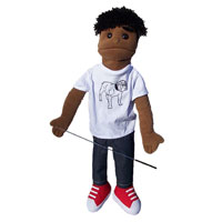 "Dual Entry Full/Half Body 28"" Dwayne Puppet"