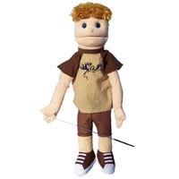 "Dual Entry Full/Half Body 28"" Danny Puppet"