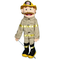 "28"" Fireman (Anglo) Full Body Puppet"