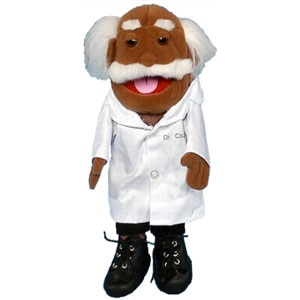 "14"" Dr. Coz (African) Glove Puppet (Doctor)"