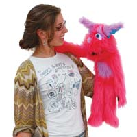 "20"" Pink Monster Puppet with Arm Rod"