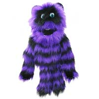 "20"" Purple & Black Monster Puppet with Arm Rod"