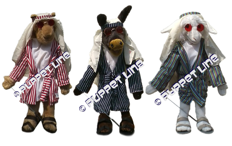 "28"" Camel, Lamb, Donkey Full Body Ventriloquist Puppet Set"