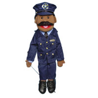 "28"" Policeman (Ethnic) Full Body Puppet"