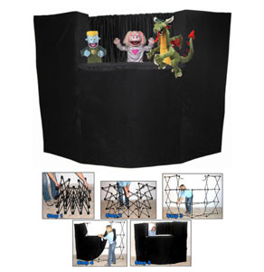 Portable Fold Up Puppet Stage with Bag