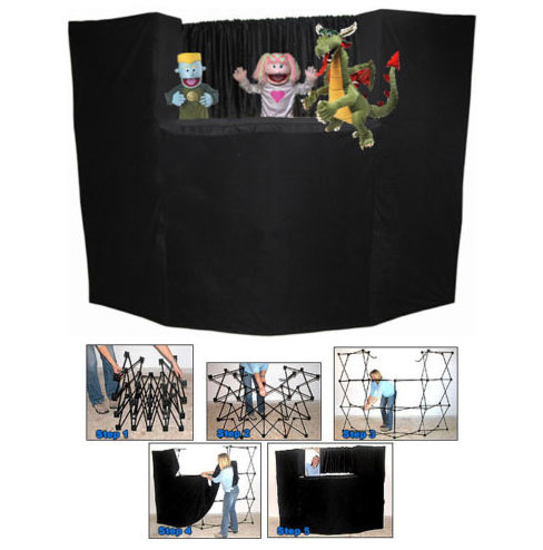 Portable Fold Up Puppet Stage with Bag by Presto Stage.
