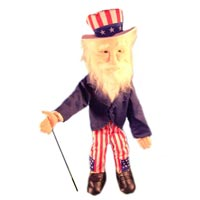 "28"" Uncle Sam Full Body Puppet - Sculpted Face"