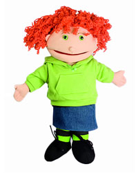 Small Puppet Buddies Red Haired Girl (Peach)