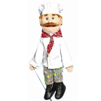 "28"" Chef Georgio Full Body Puppet"
