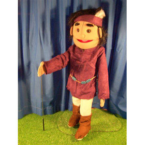 "28"" American Indian Boy w/Feather Full Body Ventriloquist Puppet"