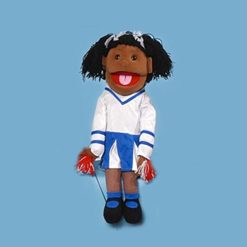 "28"" Cheerleader Girl (African) Full Body Ventriloquist Puppet"