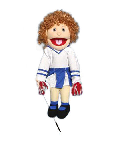 "28"" Cheerleader Girl (Anglo) Full Body Ventriloquist Puppet"