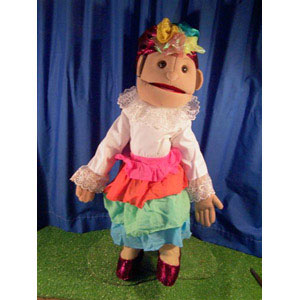 "28"" Folk Dancer Full Body Ventriloquist Puppet"