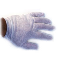 1 Dozen Pair of White Cotton Performance Gloves