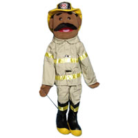 "28"" Fireman (Ethnic) Full Body Puppet"