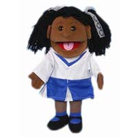 "14"" Cheerleader Tammy (African) Glove Puppet"